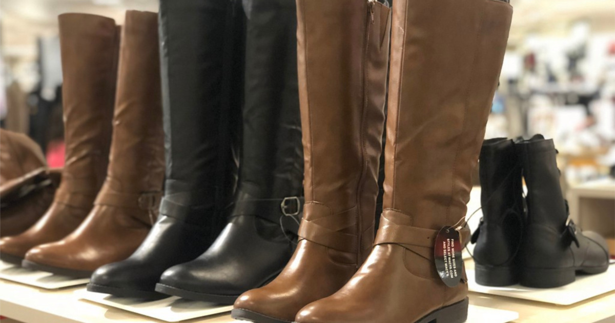 madixe boots on display in store