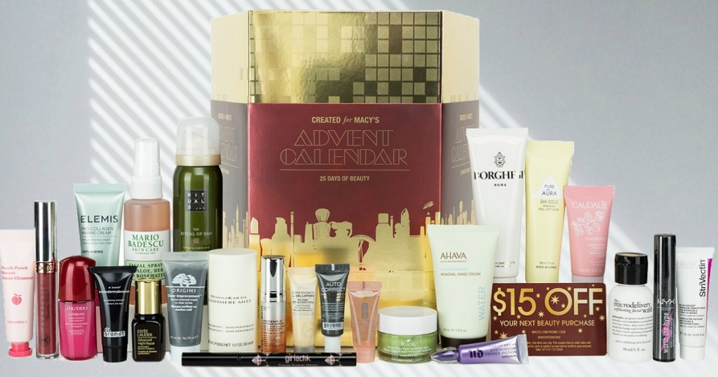 Products from Macy's Beauty Advent Calendar