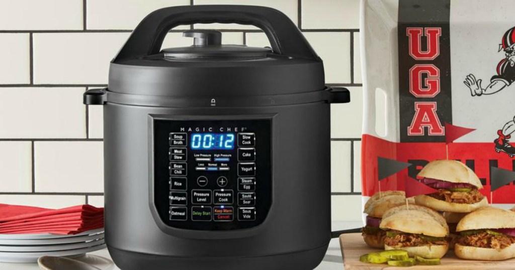 Magic Chef Pressure cooker in kitchen