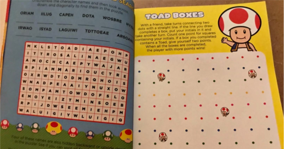 pages inside mario book