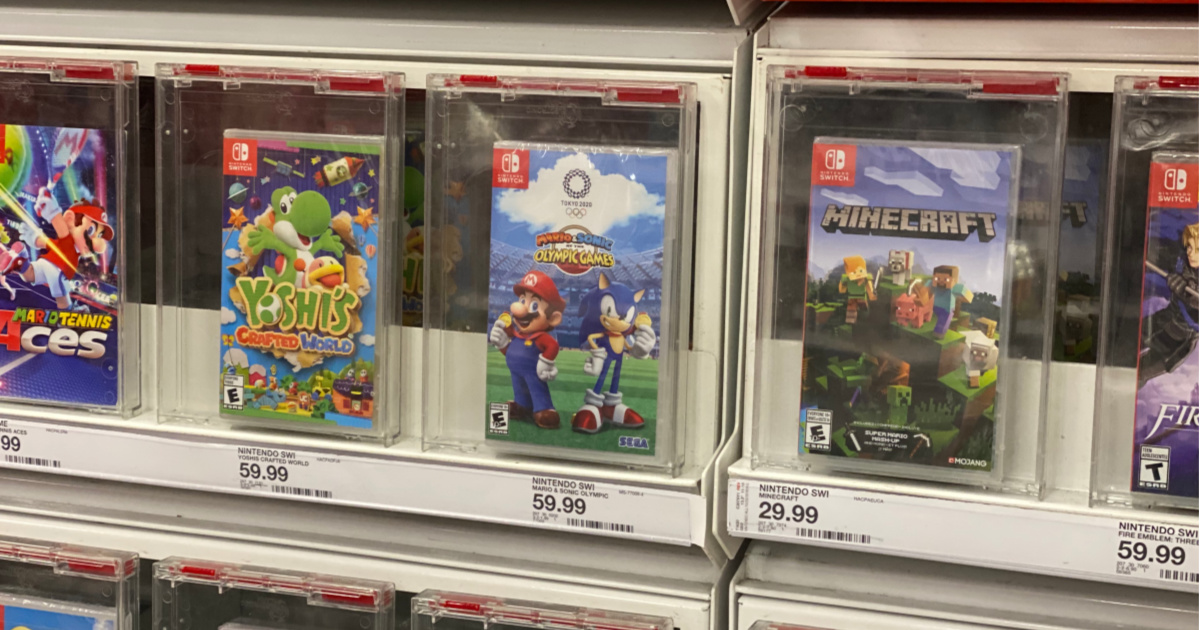 mario sonic game on shelf at store
