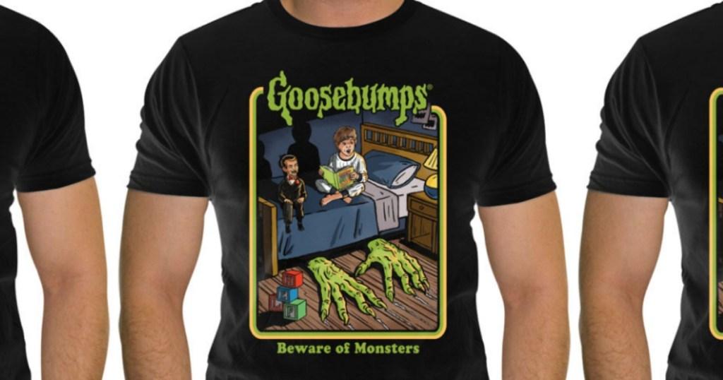 Men's Goosebumps tees in Goosebumps theme