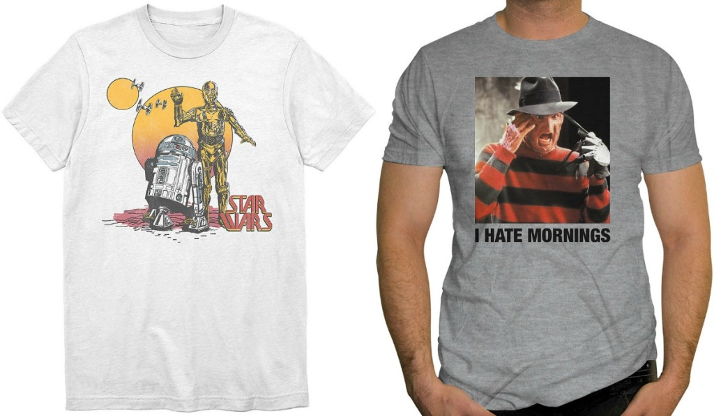 Men's Graphic Tees in two styles