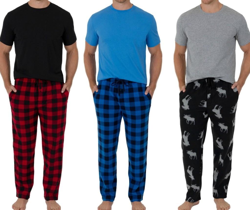 Men's Pajamas in three styles