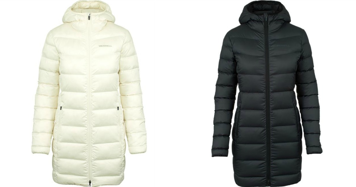 black and white puffer coats