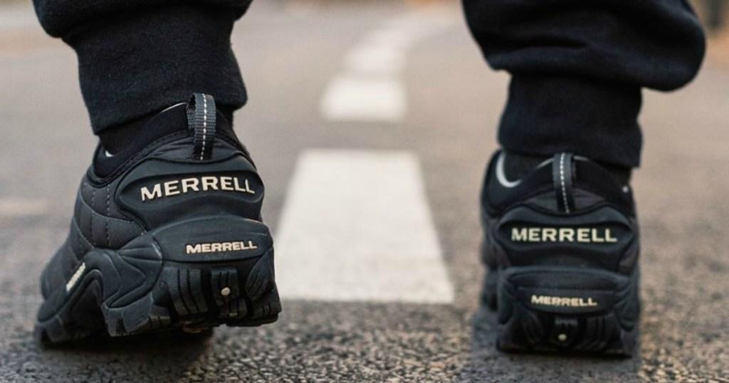 Man walking in Merrell Shoes