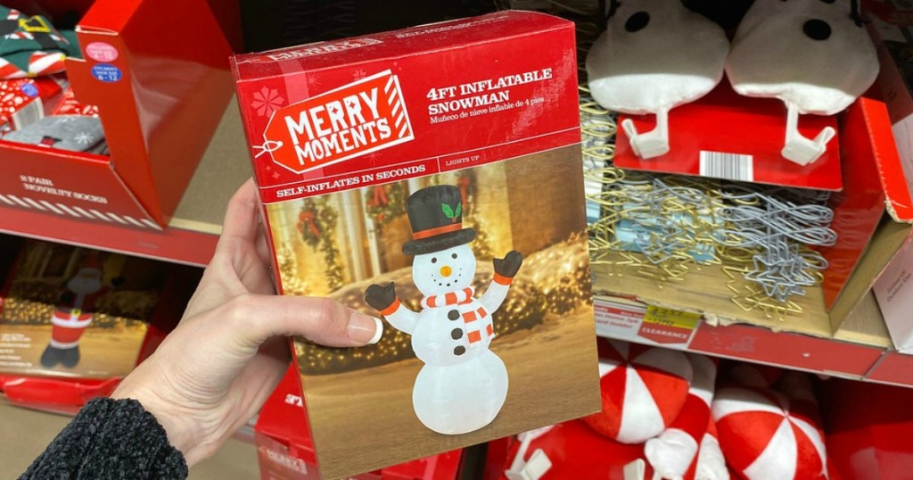 Merry Moments 4' holiday inflatable snowman
