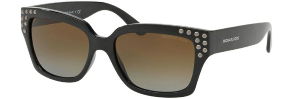 Michael Kors Banff Polarized Metal Studded Square Sunglasses