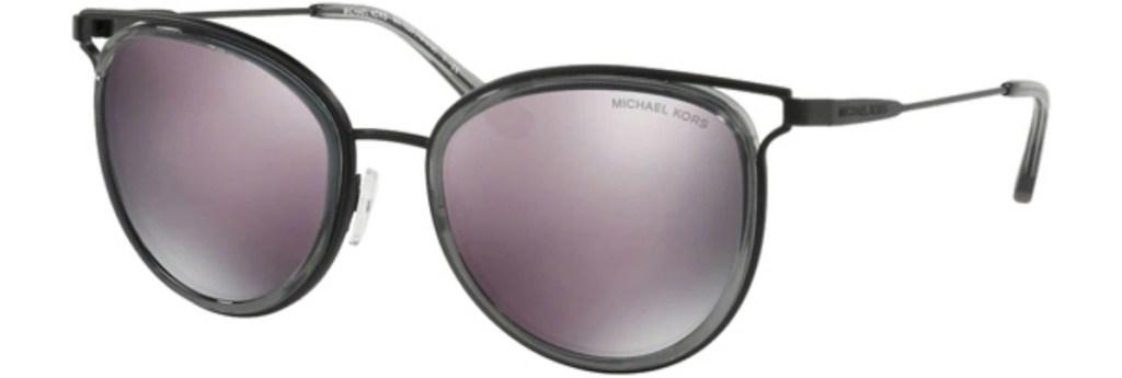 Michael Kors Havana Black Rounded Sunglasses