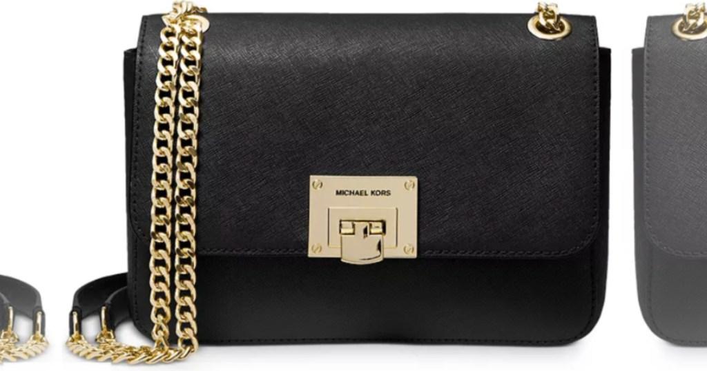 black Michael Kors Medium Convertible Shoulder Bag