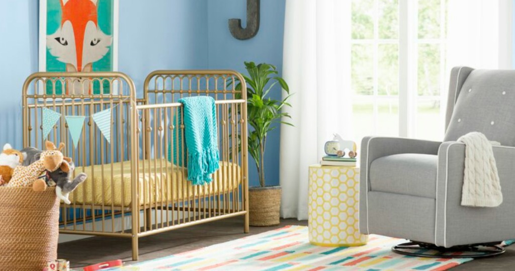 Monarch Hill Ivy Crib in Gold in baby room