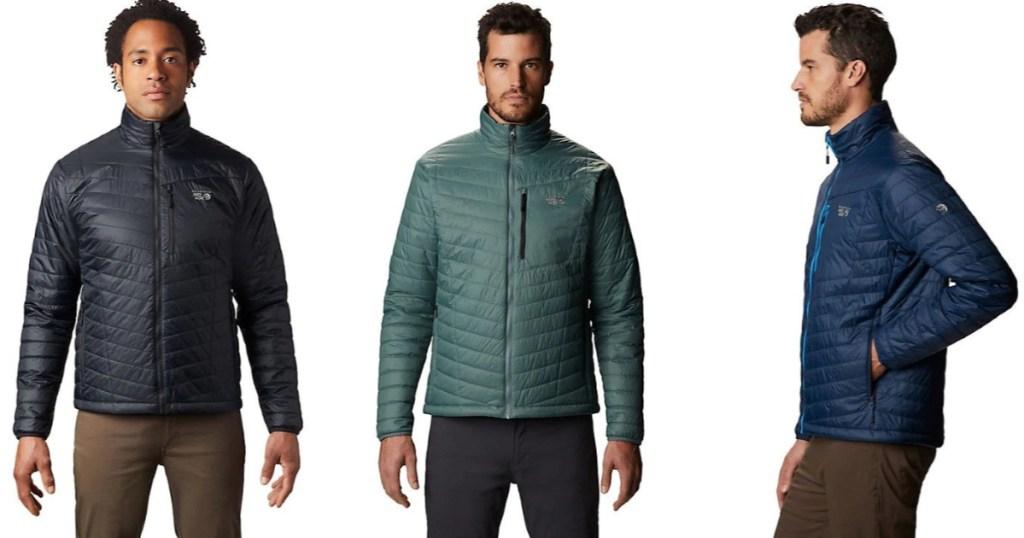 Mountain Hardwear Men's Derra Jacket in black, green or blue