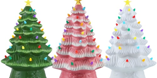 Ceramic Pre-Lit 16″ Christmas Tree Just $25 at Walmart | In-Store & Online