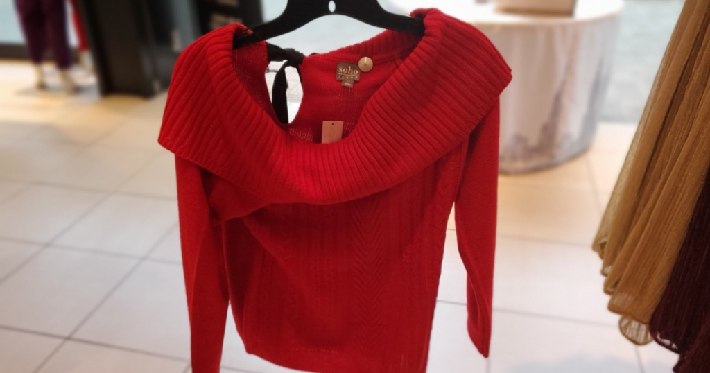 womans cowl neck sweater at new york & co