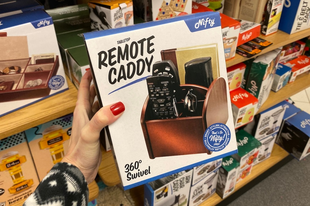 hand holding Nifty Remote Caddy