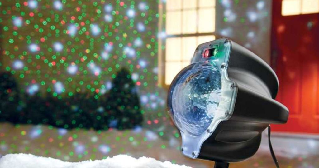 Night Stars Snowfall LED Laser Light projector with house display