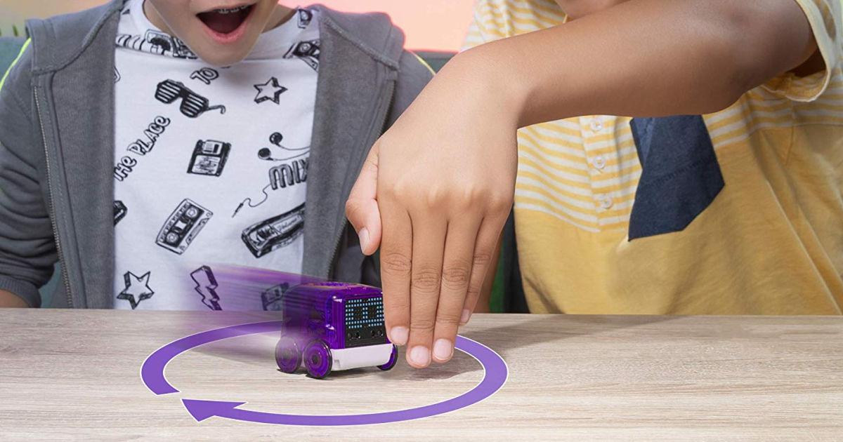 kids playing with Novie Interactive Smart Robot Purple