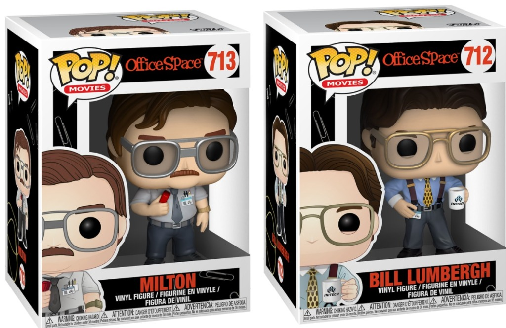 Funko POP figures from Office Space in packages