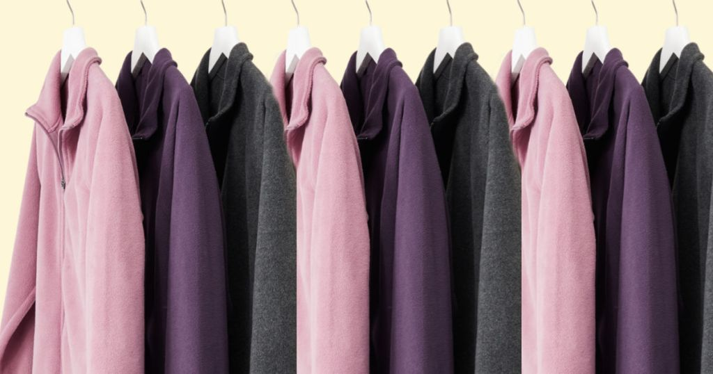 pink, charcoal, and plum Old Navy Micro Performance Fleece