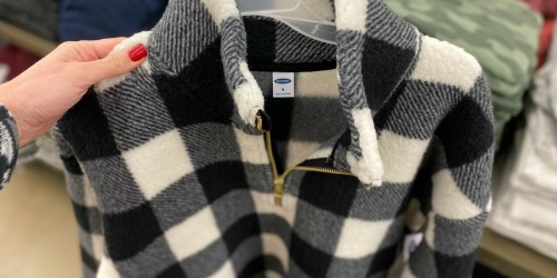 Old Navy Sherpa Pullovers $10 Shipped (Regularly $45) | Cyber Monday Savings