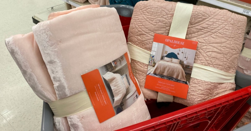 Opalhouse Bedding in cart at Target