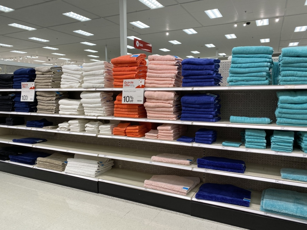 Opalhouse Towels on Target store shelves
