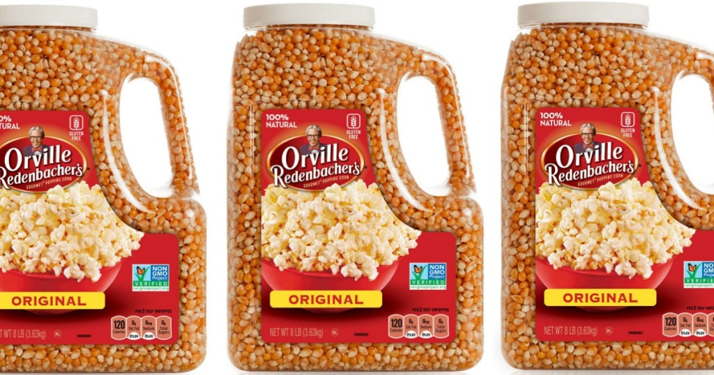 Three Jugs of Orville Redenbachers Popcorn