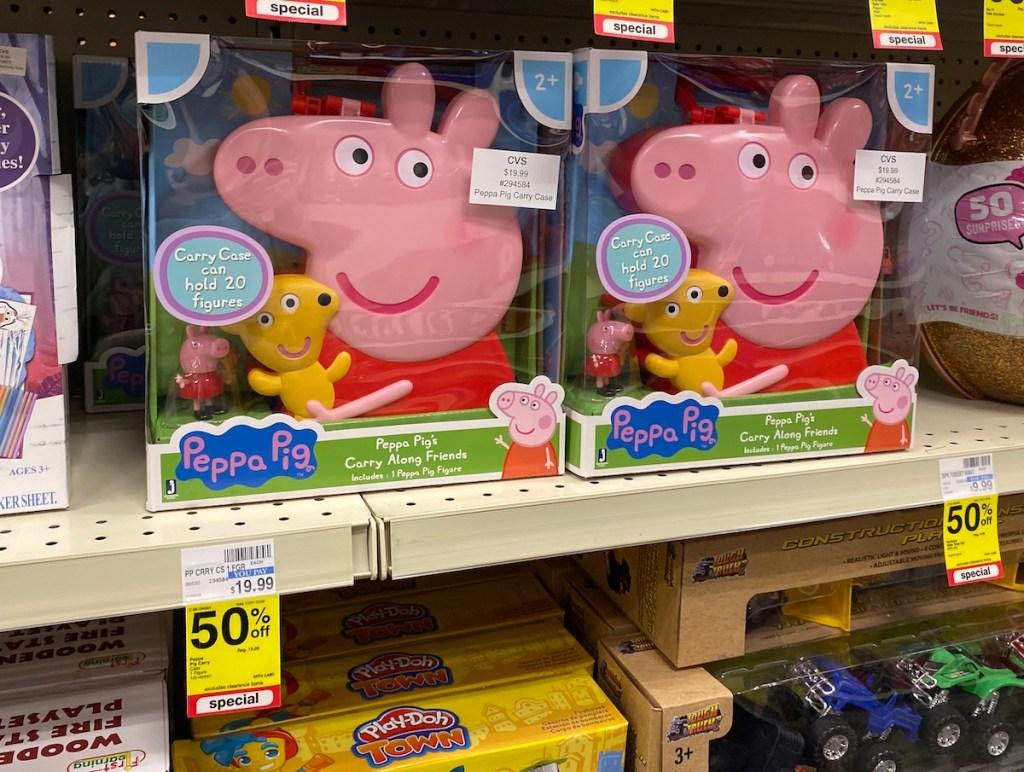 Peppa Pig Carry Along Friends on shelf at CVS