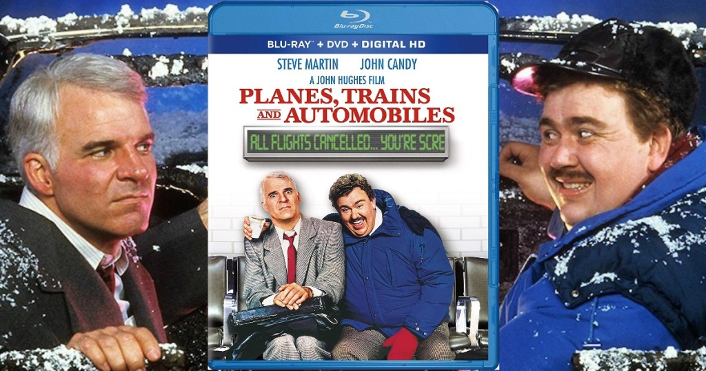 Planes, Trains, and Automobiles on Blu-ray with movie scene