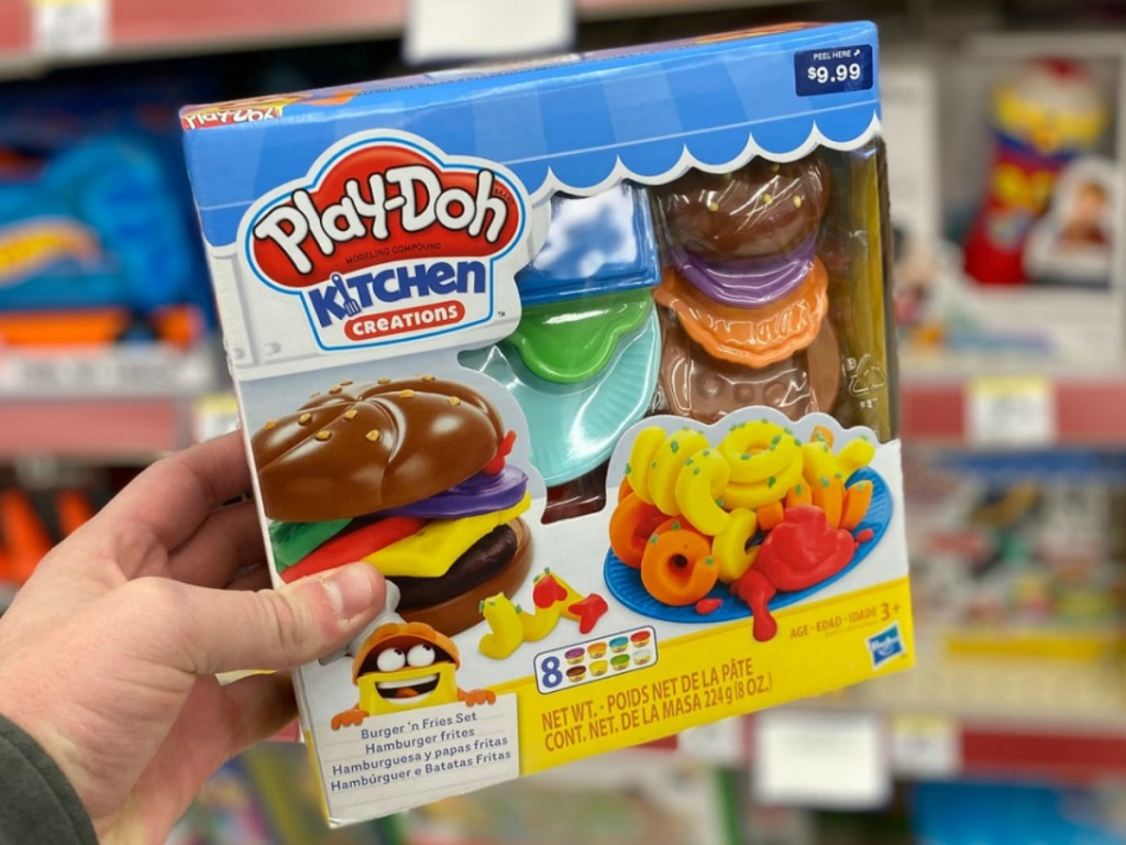 Play-Doh set burger and fries