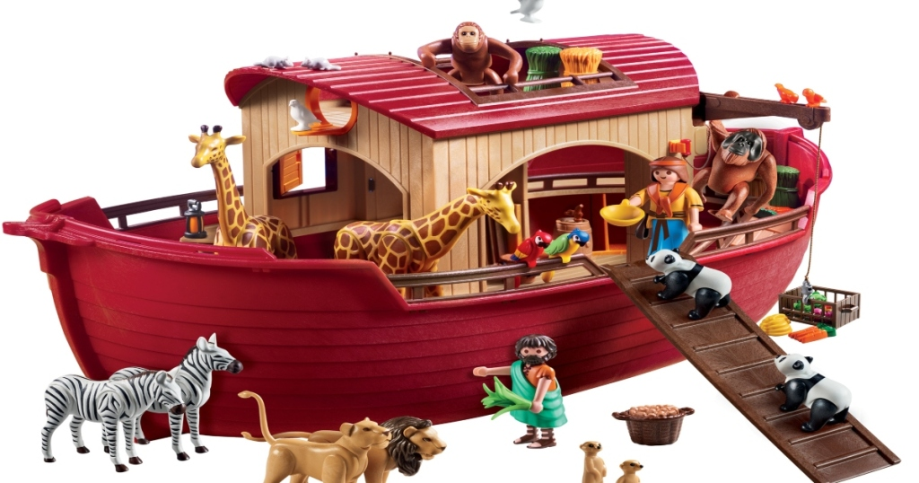 Plamobil Noah's Ark set with all animals in and around it