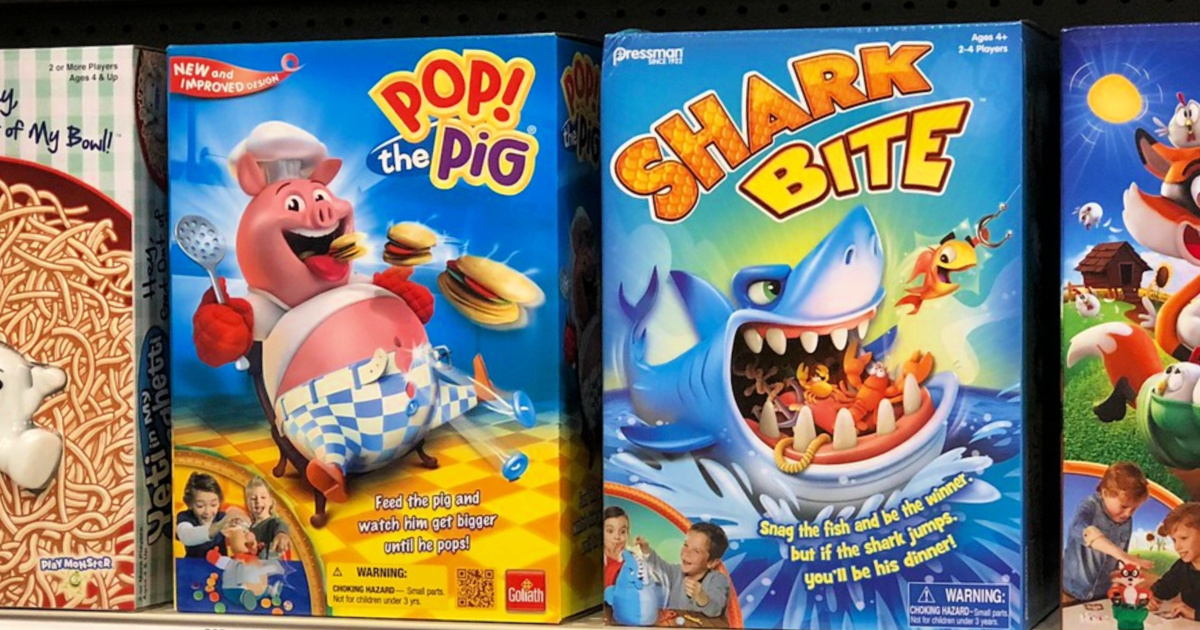 Pop the Pig and Shark Bite Games