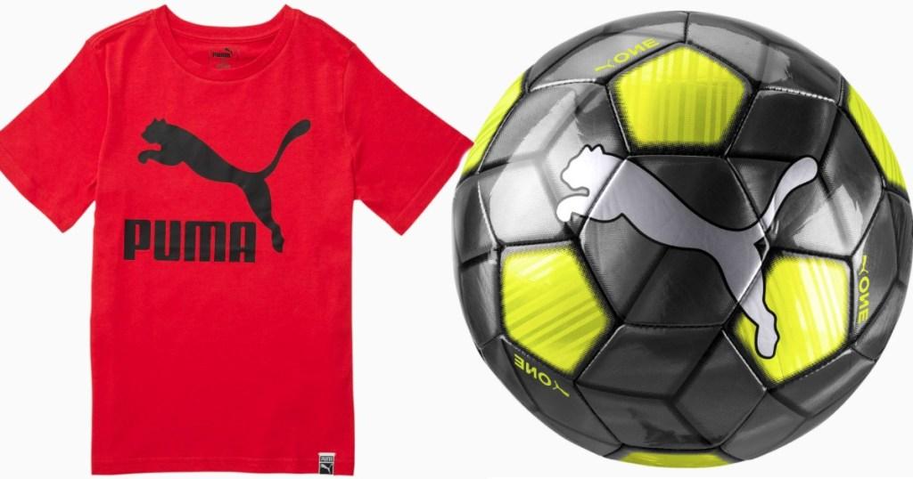 Puma Tee and Soccer Ball