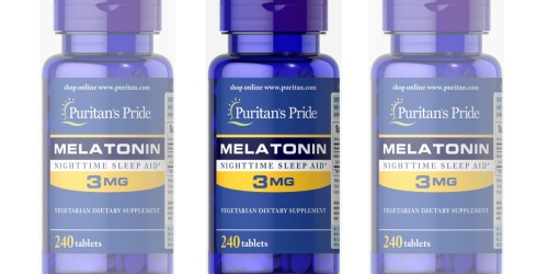 Puritan's Pride Melatonin 3 mg 240-Count Tablets as Low as $2.32 Shipped (Regularly $5)
