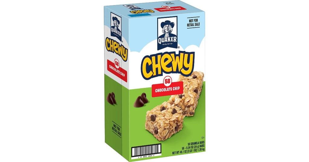 box of quaker chewy granola bars