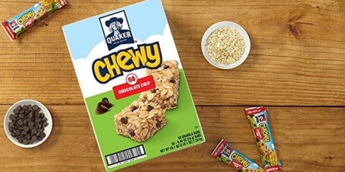 Quaker Chewy Granola Bars 58-Count Only $7 Shipped on Amazon | Just 12¢ Each