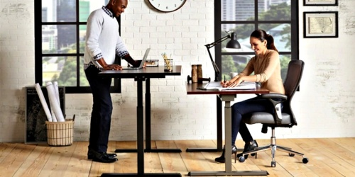 Pneumatic Height-Adjustable Desk Only $174.99 Shipped at Office Depot/Office Max (Regularly $400)