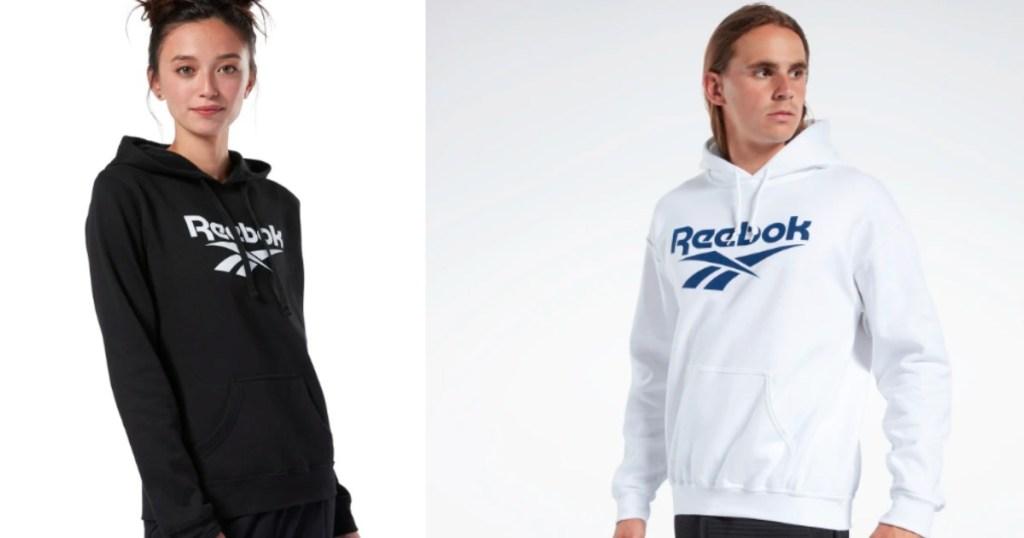 woman and man wearing Reebok Sweatshirts