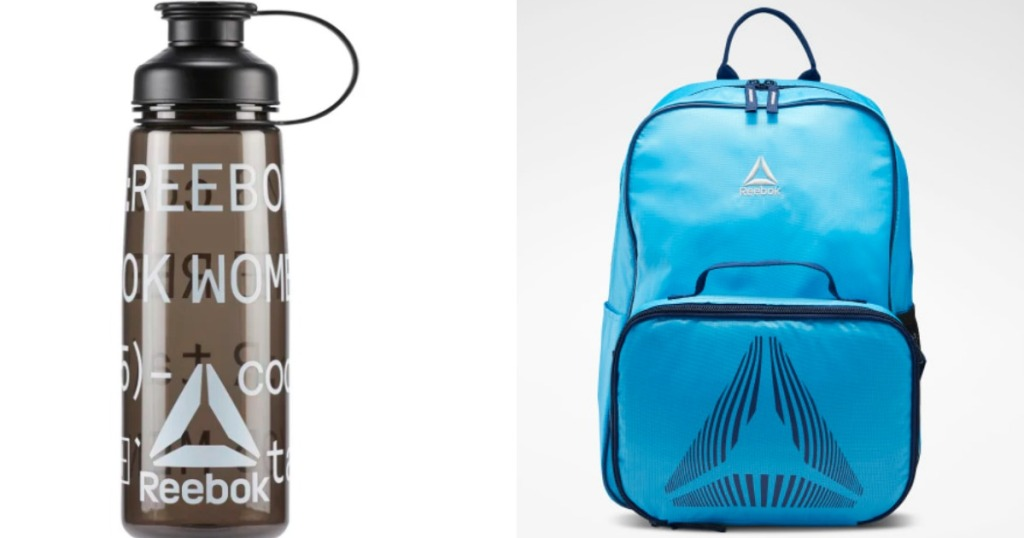 Reebok Water Bottle and Lunchbox