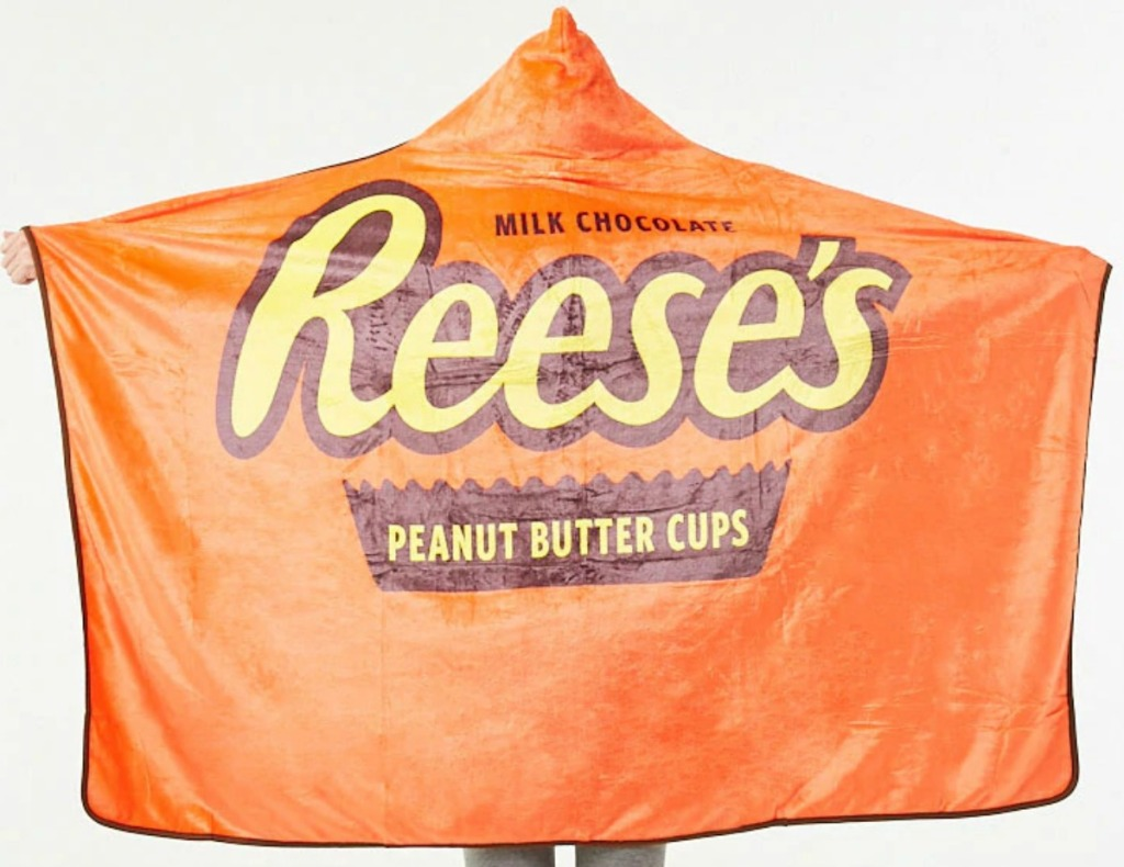 Reese's Peanut Butter Cup themed blanket