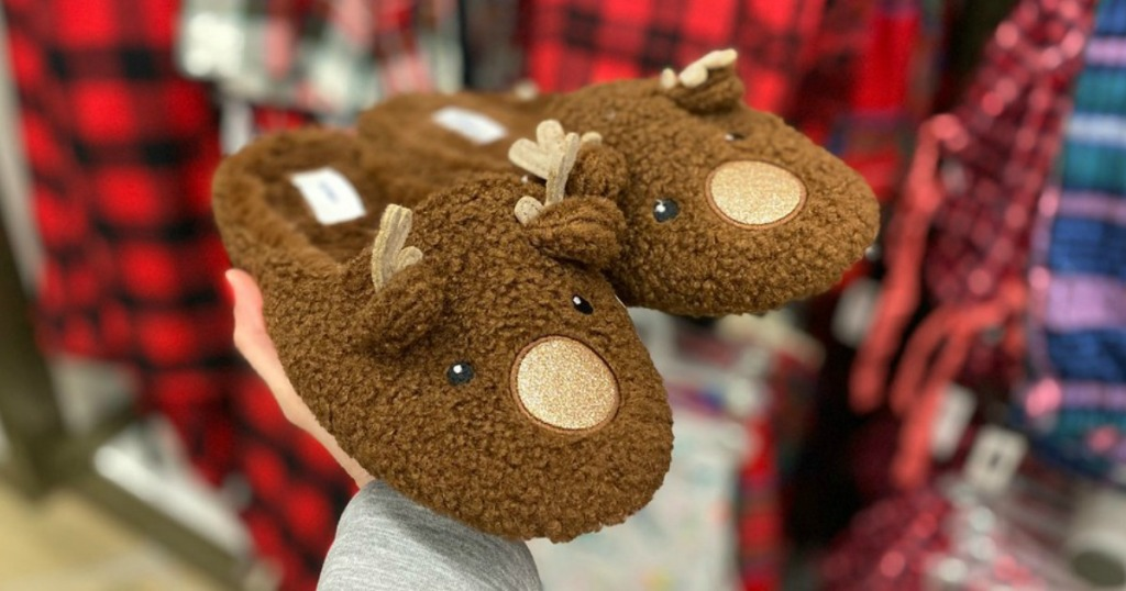 Old Navy Reindeer Slippers