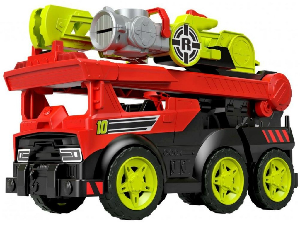fisher-price transforming fire truck stock image