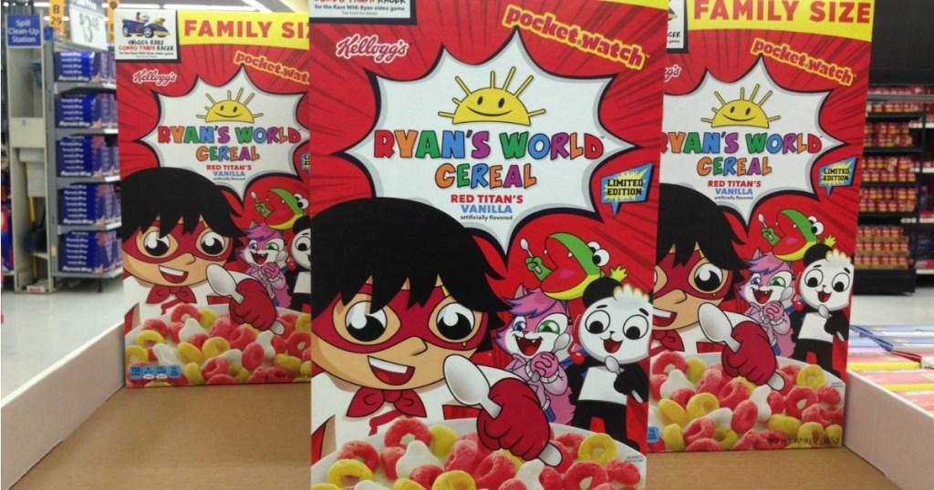 Ryan's World Cereal at Walmart