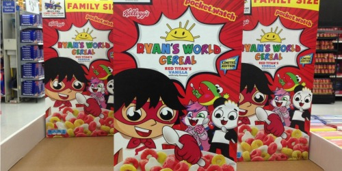Limited Edition Ryan's World Cereal Now Available at Walmart