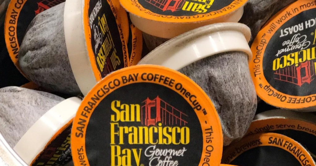 SF Bay Coffee K-Cup Coffee Pods close up