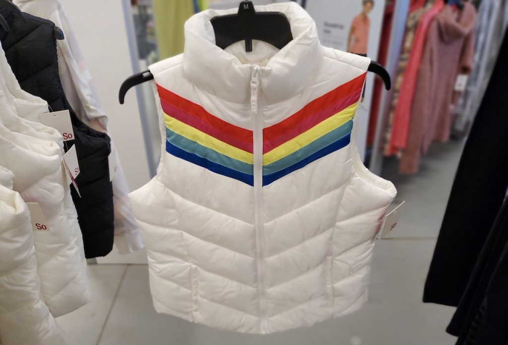 SO Puffer Vest on hanger