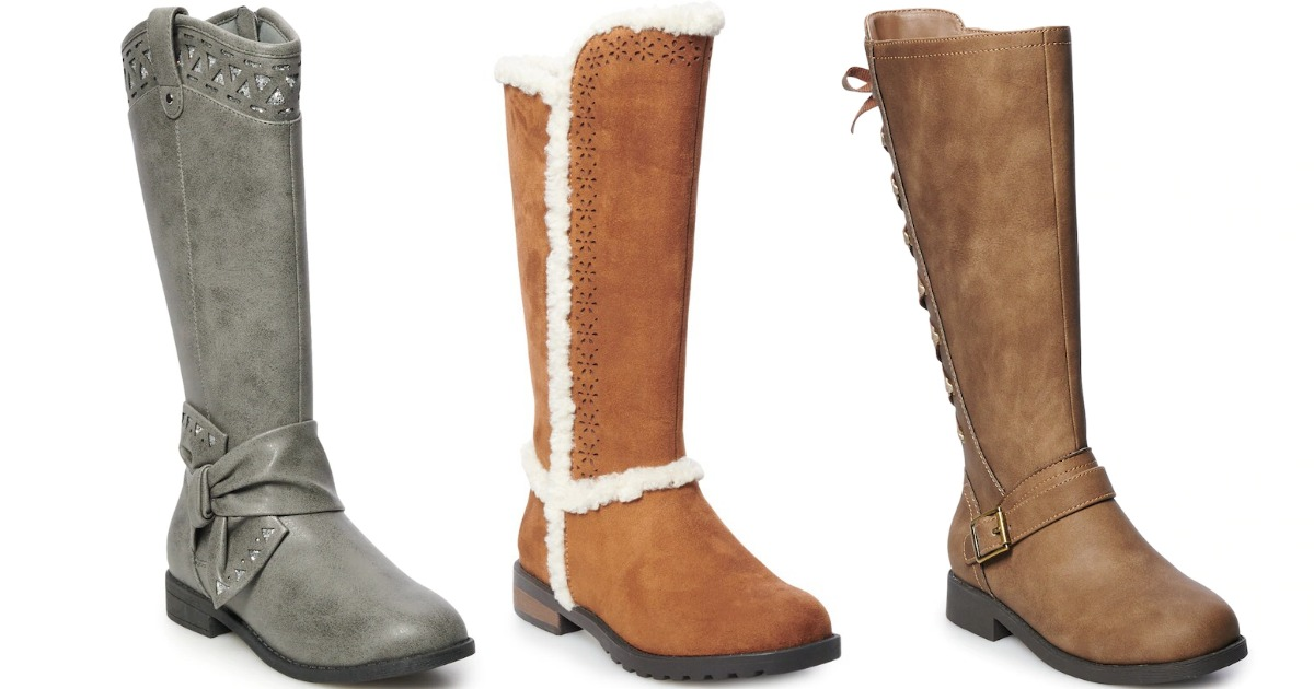3 pairs of SO Tall Girl's Boots stock images