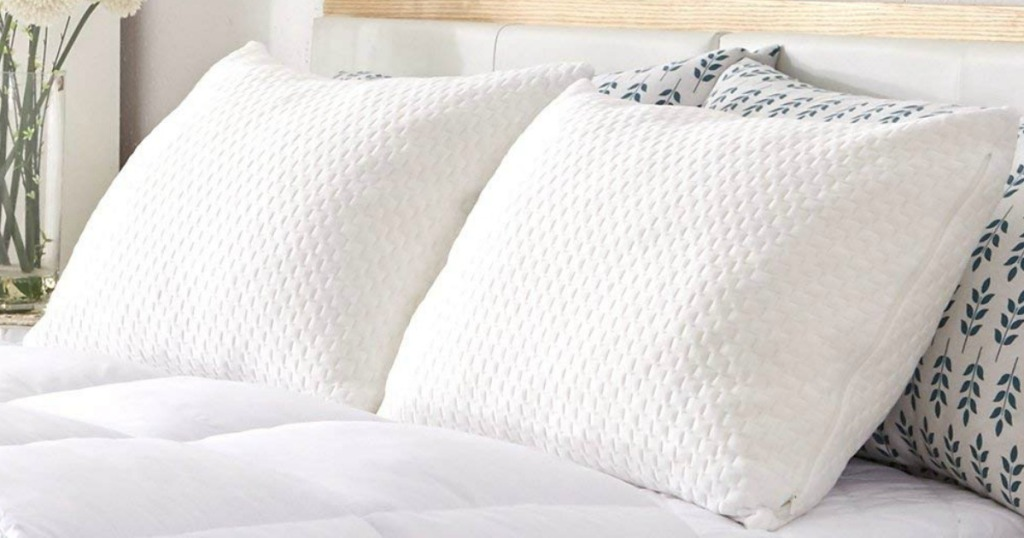 Sable Memory Foam Pillows on bed