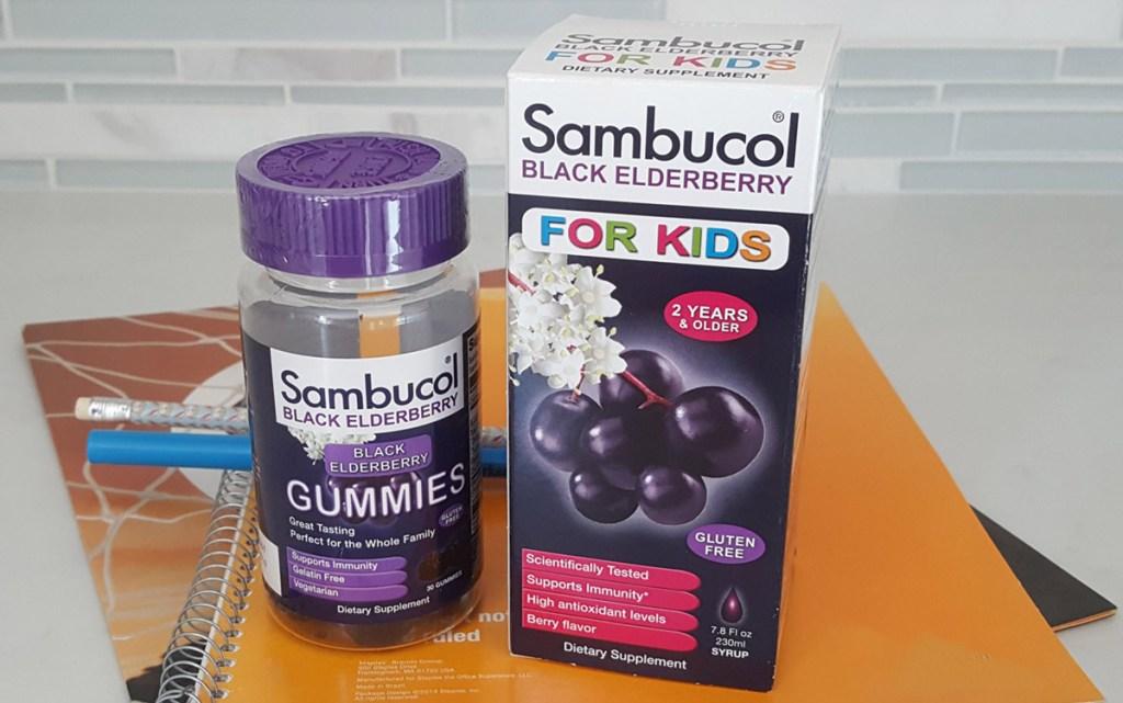 Sambucol Gummies For Kids on Table