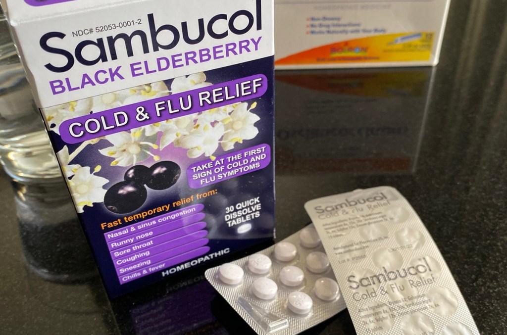 Sambucol Medicine In Box On Table